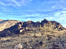 Strange looking, lava like rock formations.