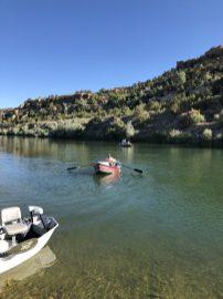 Drift boat fly fishing, our guide, Steve Gill.