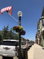Flags flying for the week of the 4th of July.