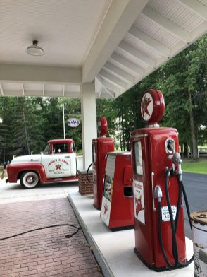 A Private Collectors Restored Texaco Gas Station