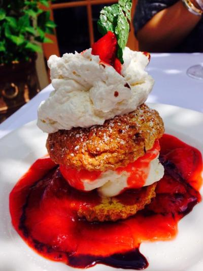 Strawberry Shortcake, Cindy's Backstreet Kitchen, St. Helena, Napa Valley, California 2014 © Credit: Krystal M. Hauserman @MsTravelicious