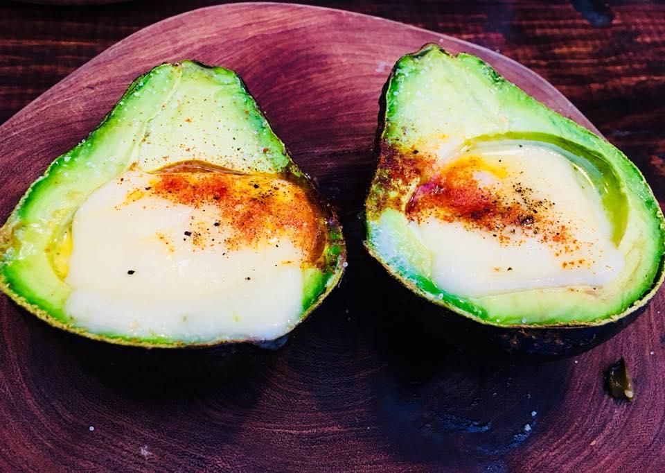 Stuffed Avocado at Kibok Coffee San Miguel de Allende
