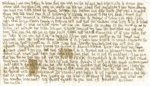 Letter from Nelson Mandela to Mbube Mdingi