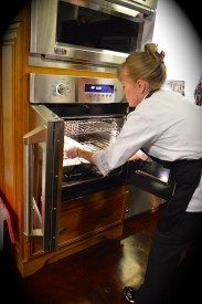 Chef Krista is a pro with the GE Monogram french door oven