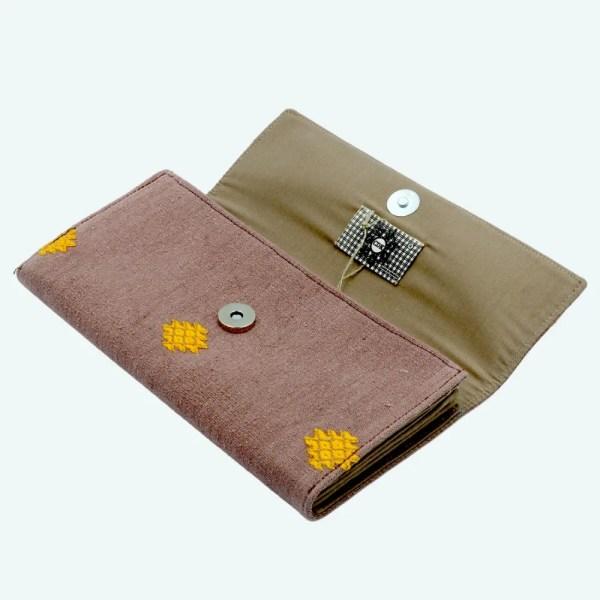 CDK - handwoven purse in tan 5