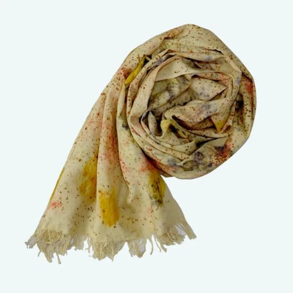 Eco-print shawl by Colours of Bhutan 6