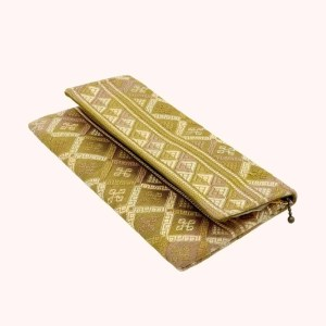 Natural dyed silk clutch by Kelzang Textiles - 2