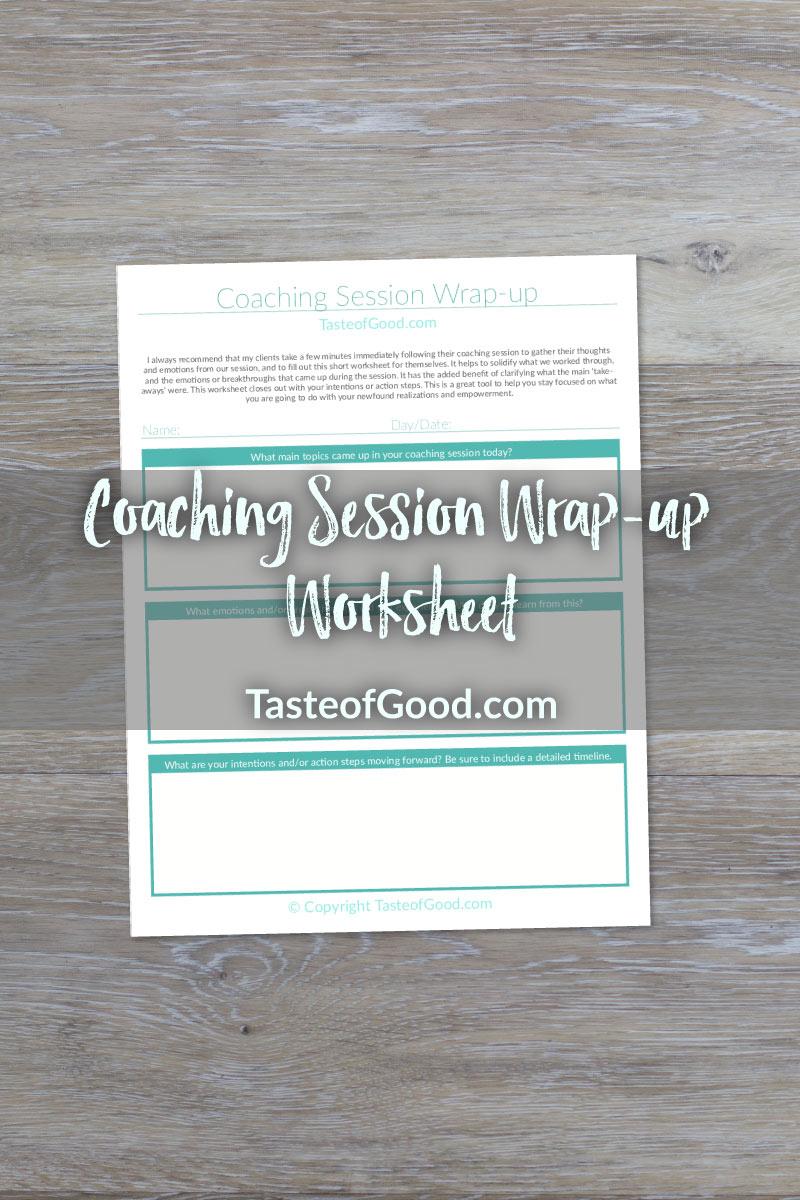 Coaching Session Wrap-up Worksheet