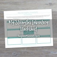 My Strengths Inventory Worksheet