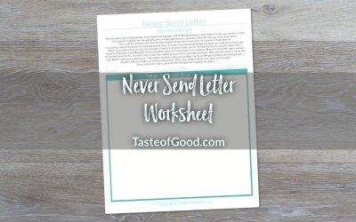 Never Send Letter Worksheet