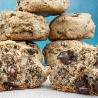 Chocolate Hazelnut Scones with Hazelnut Flour, Almond Flour and Dark Chocolate