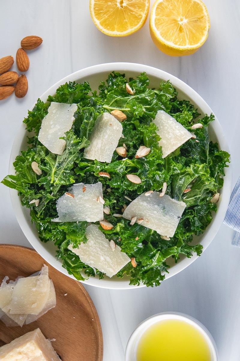lemon kale Salad a healthy recipe from taste of good