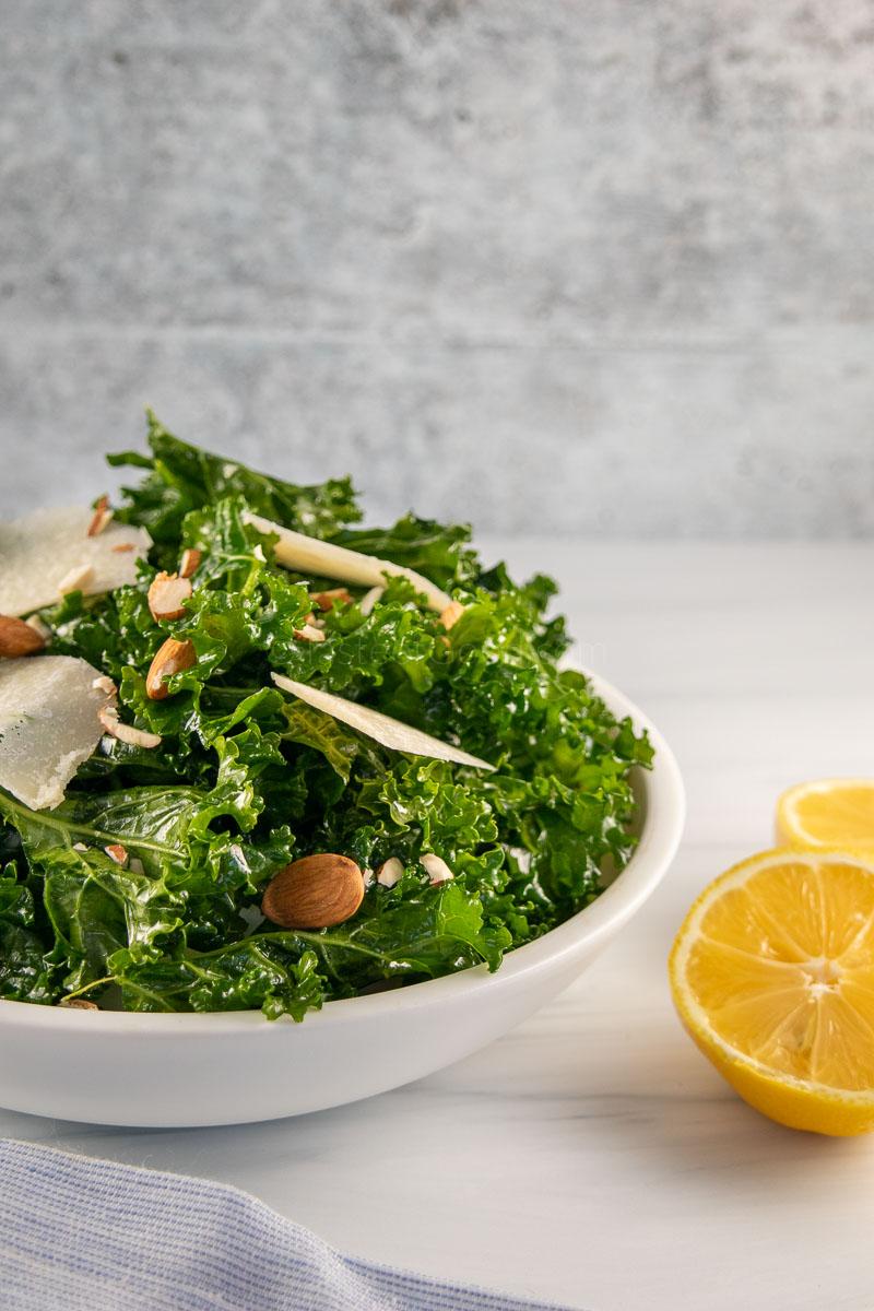 Kale Salad with Lemon Olive Oil dressing