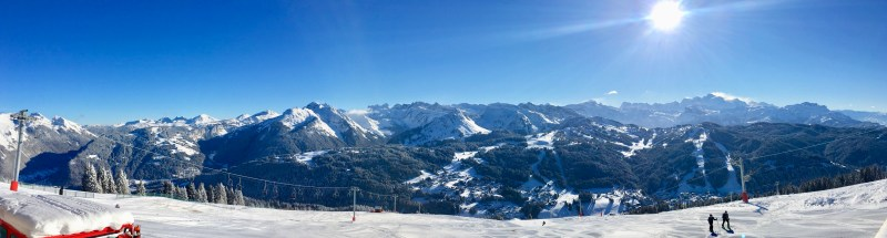 the panoramic view from La Grande Ourse on Mont Chery