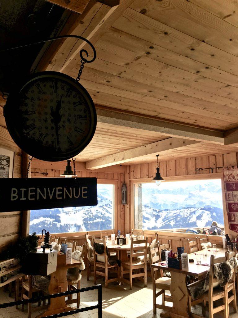 Inside La Grande Ourse, the picture windows bring the views in