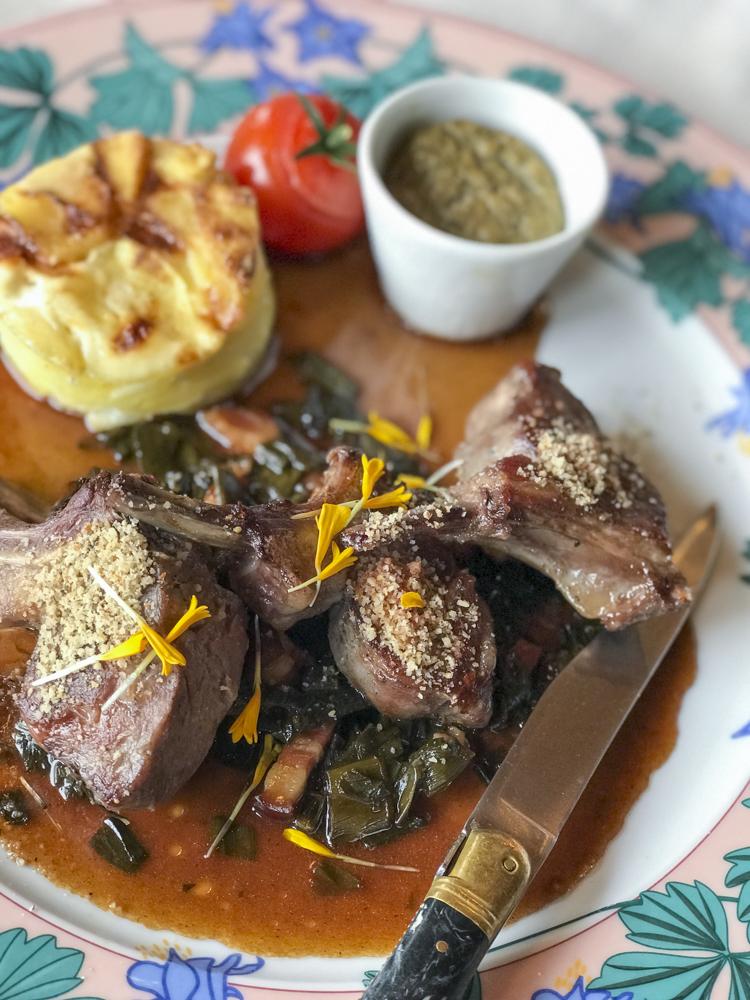 Lamb - Plat du Jour at L'Ancolie Restaurant Cruseilles