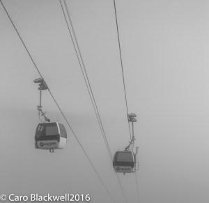 Meeting in the fog - Les Gets, Haute Savoie