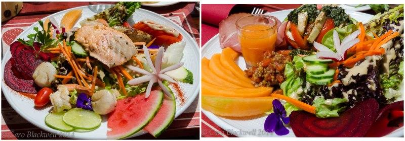 Salads at La Pela, Les Gets