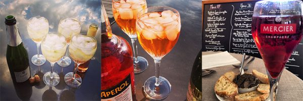 Champagne piscines, Aperol and Kir Royale