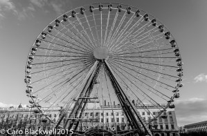 The ferris wheel in Place Bellecour
