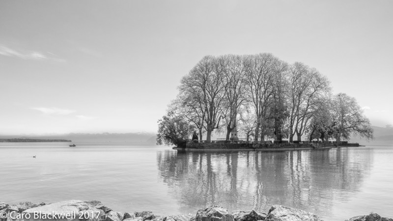 Isle de la Harpe off Rolle on Lac Leman