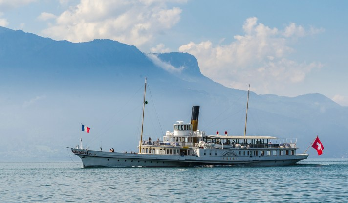 SS Vevey part of the Belle Epoque fleet from CGN