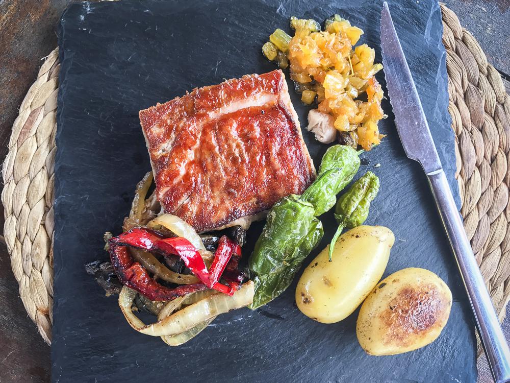 Villa Del Mar, Benicassim - Confit Iberico Pork with Pineapple Chutney