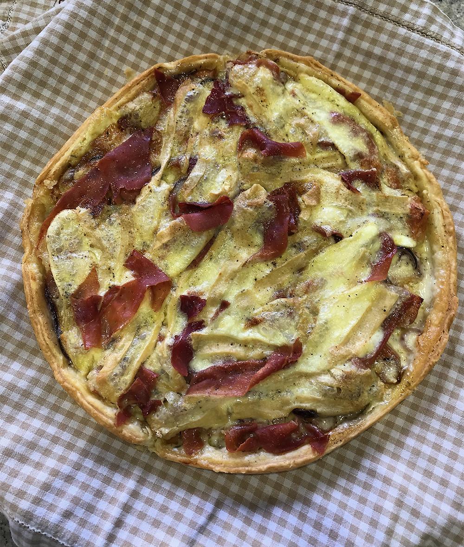 Reblochon and Sweet Potato Tart - Baked in the Taste of Savoie Kitchen
