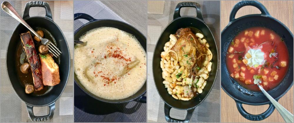 Les Cocottes serving dishes