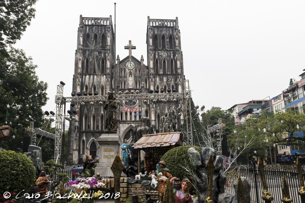 19th Century Neo Gothic - St. Josephs Cathedral in Hanoi Old Quarter
