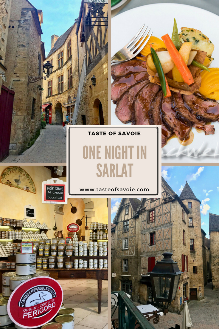 One of the many wonderful streets  in Sarlat by Travel Blogger, Taste of Savoie