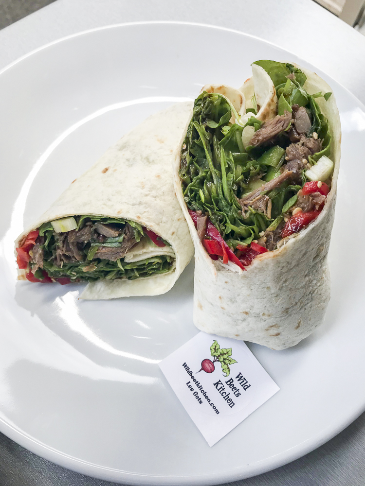Hoisin Shredded Duck Wrap at Wild Beets Kitchen in Les Gets