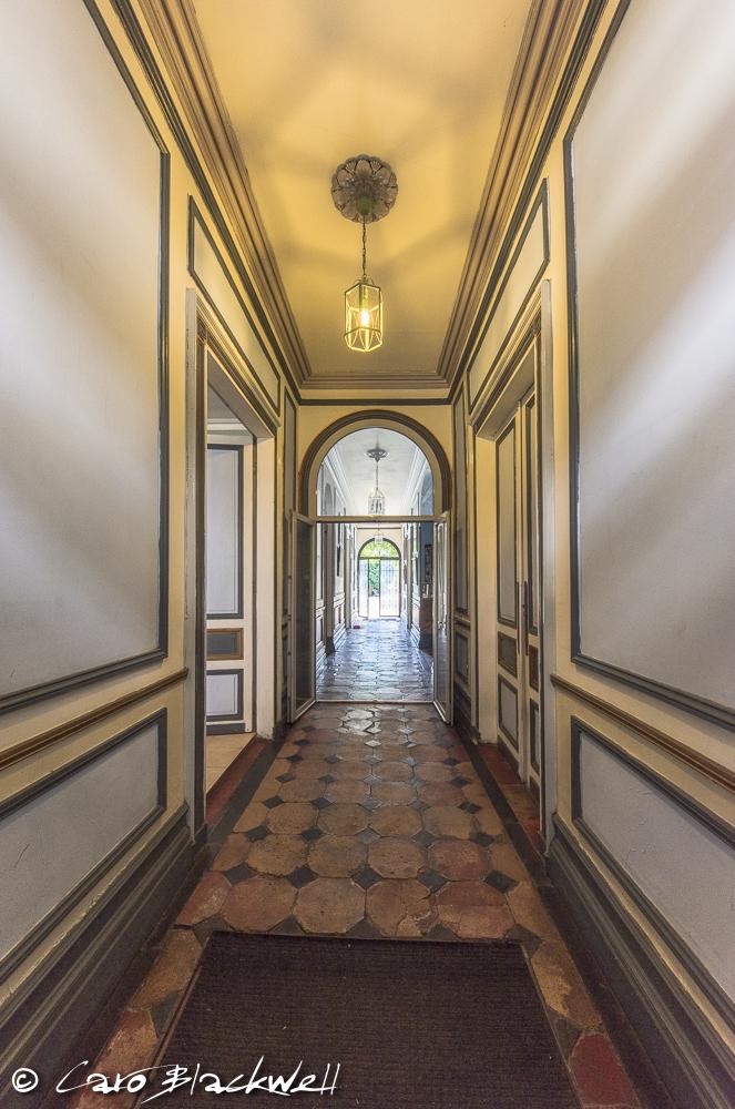the entrance hall at Chez Castillon