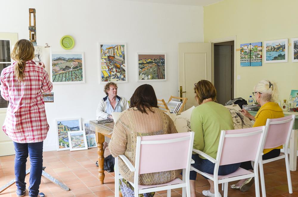 Portrait session in the studio at chez Castillon