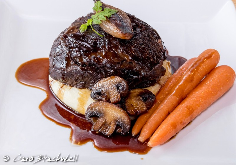 Braised Beef Cheek from chef Mark at Book4Alps