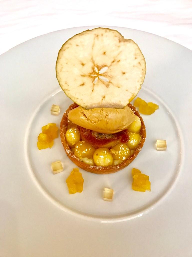 Tartelette crémeuse aux pommes de Savoie, fraîcheur caramel