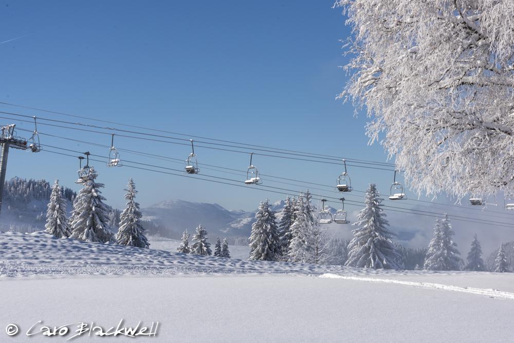 Winter in Les Gets, Haute Savoie