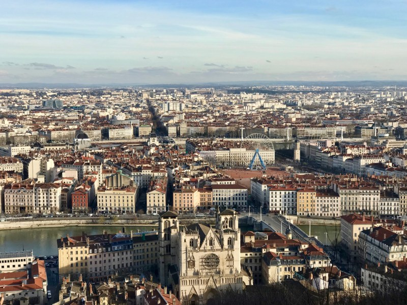 View from Fourvière over Lyon