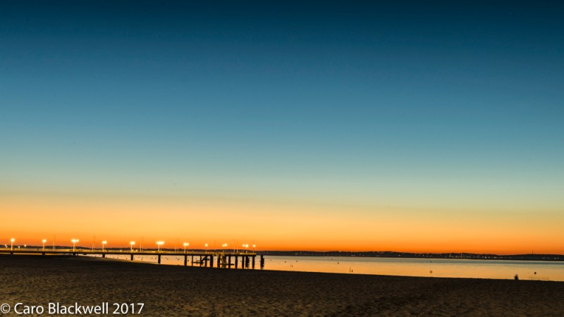 Sunset on Arcachon beach