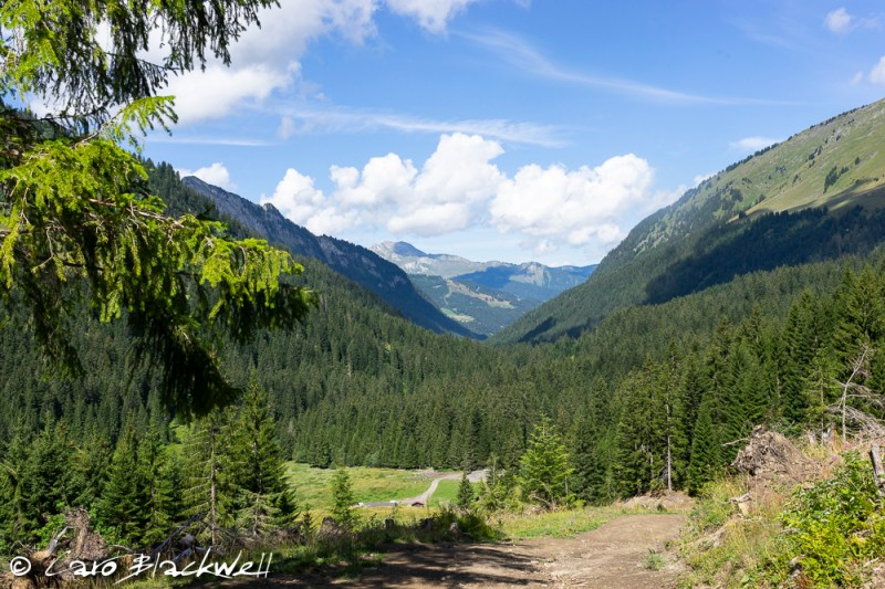 Views looking towards Chardonnière, Hiking from Lac Mines d'Or, Morzine