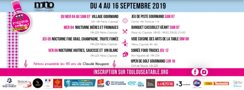 Toulouse à Table 4th - 16th September