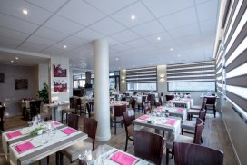 The Interior of the restaurant at L'Instant Present, Feigeres - review by Taste of Savoie