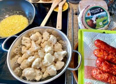 making a fusion tartiflette - Taste of Savoie