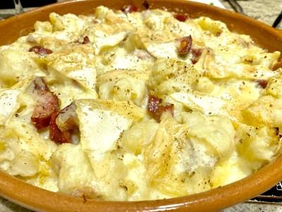 Cauliflower and Diots Tartiflette - Tast eof Savoie