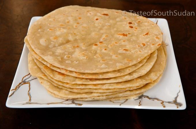 Chapati flat bread, cooked East African Style Chapos Recipe, Taste of South Sudan, Kenyan chapati, Ugandan Chapati