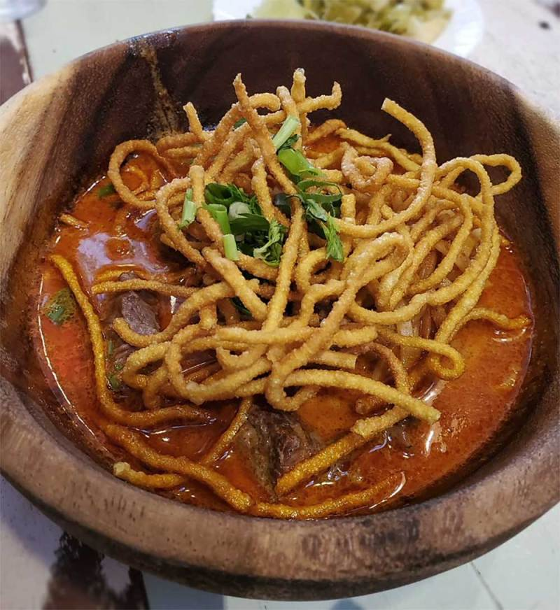Traditional Northern Thai Dish -  Khao Sawy