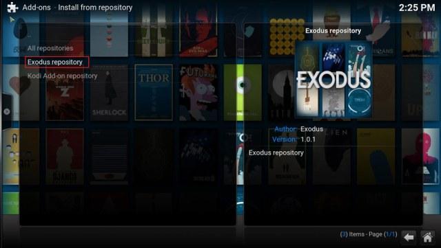 instaliranje exodus plugina korak 8