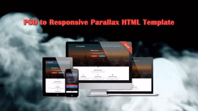kurs web dizajna learn psd to responsive parallax HTML/CSS web design