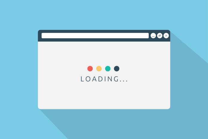 Loading page browser in flat style vector illustration