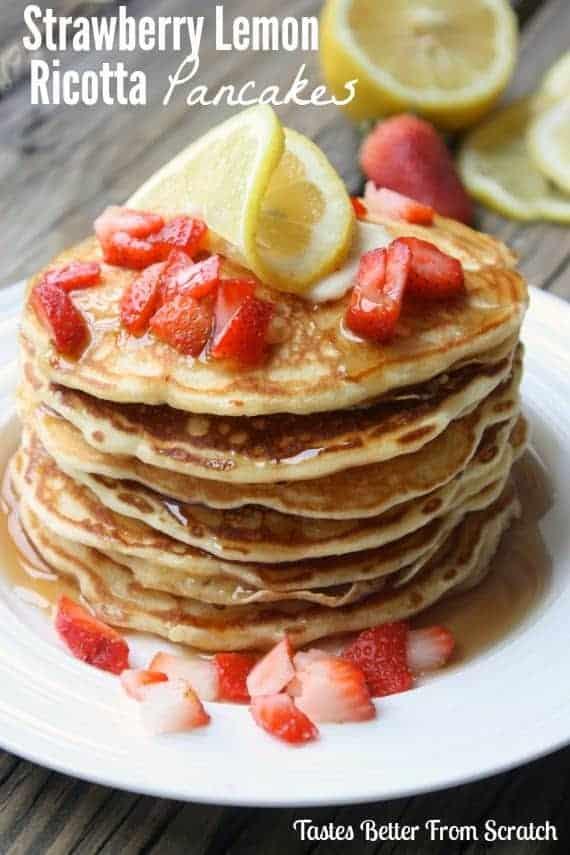 StrawberryLemonRicottaPancakes